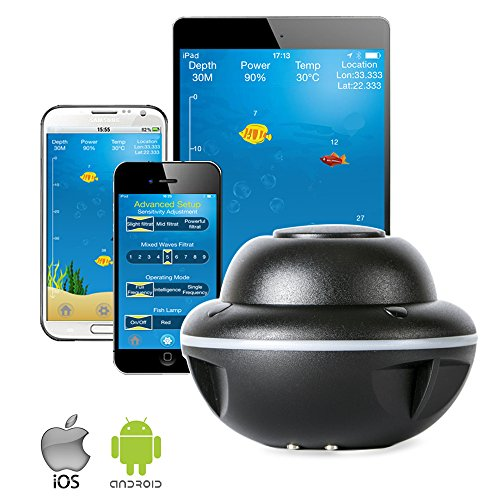 Wireless portable fish finder bluetooth sonar fishing for Ice fish finder