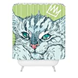 "Deny Designs Geronimo Studio Cat Attack Shower Curtain, 69"" x 72"""