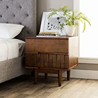 I Love Living Tessuto 2-drawer Night Stand, Brown Finish
