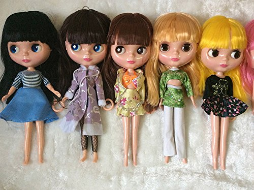 12-Inch Big Head Doll with 4 color Change Eyes Limited SD Dolly Dressup Collection for Kids Toys Gifts