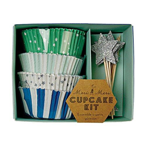 Meri Meri Blue Star Cupcake Kit