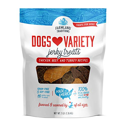 Farmland Traditions USA Made 3 lbs. Dogs Loves Variety Jerky Treats