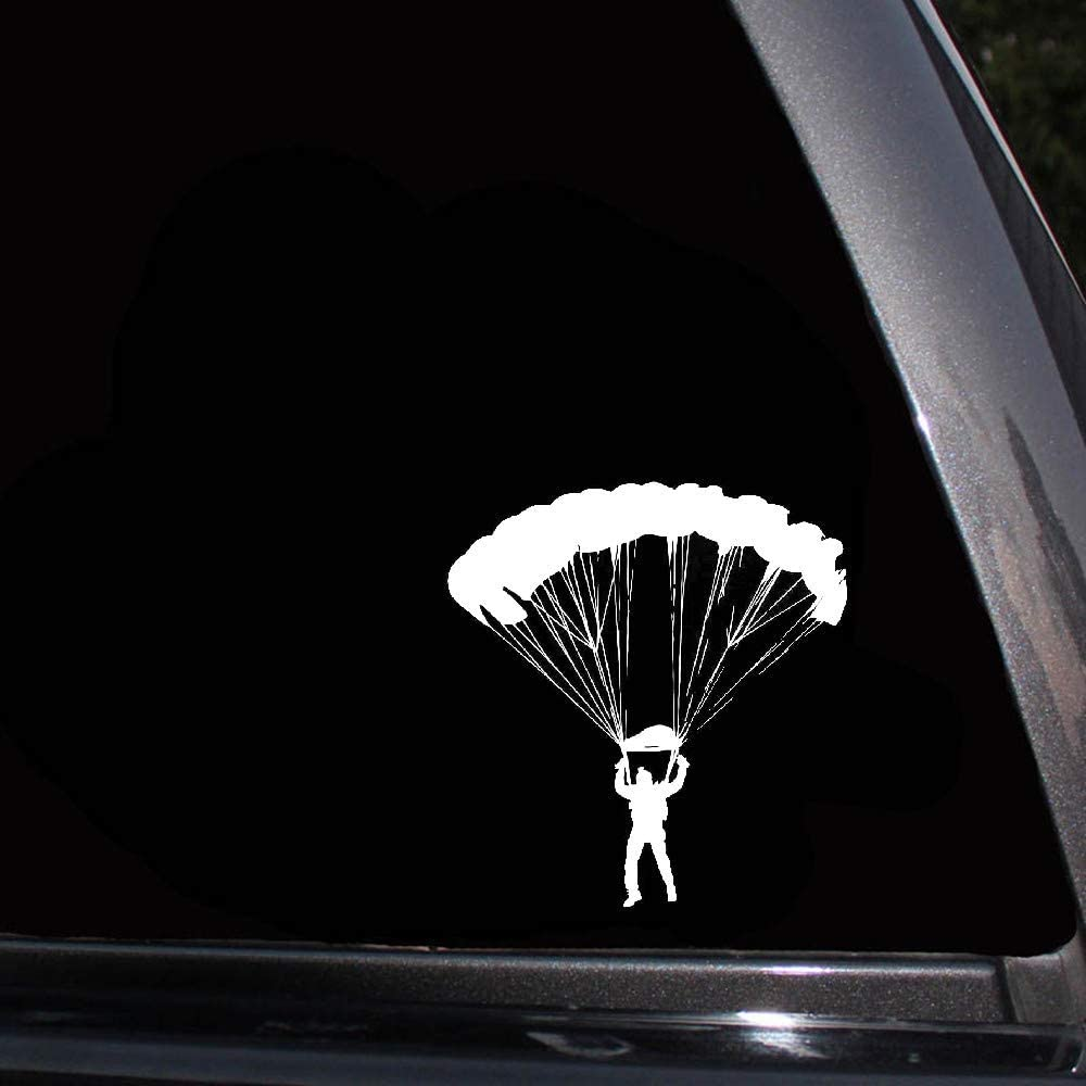 17.5x18.7cm estimulación paracaidismo pegatinas de coches de deportes extremos calcomanías de moda para la etiqueta de la ventana del ordenador portátil del coche
