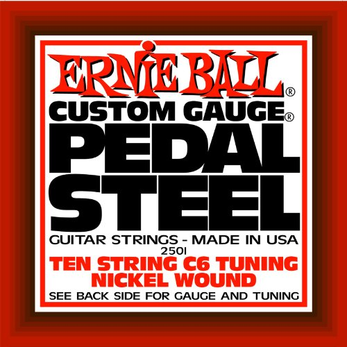 Ernie Ball Pedal Steel Nickel Wound 10-string Set, C6 Tuning String C6 Pedal Steel Guitar