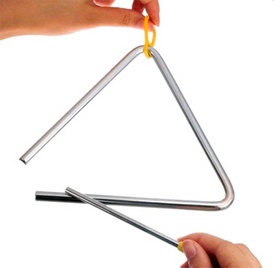 5Pcs Freedi Musical Instruments Triangle 4''Angle Iron Preschool Music Triangle