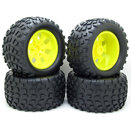 4x 130mm RC 1/10 Monster Truck Bigfoot Tyre Tires &12mm HEX Wheel Rim Hub for HSP