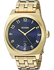 Nixon Womens A3252216-00 Monopoly Analog Display Japanese Quartz Gold-Tone Watch