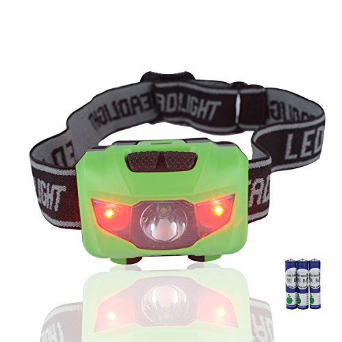 Infityle LED Headlamp - Waterproof IPX6 200 Lumens LED Head Lamp Flash Working Lights (Green 1, Dual Buttons (Wii Sonic Transformers)