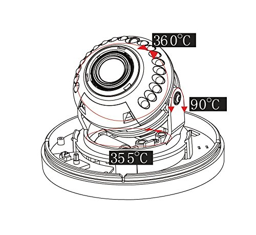 Night Vision Polycarbonate Dome Housing Asung ACM-SHL182M1-TDN 18PCS Infrared LEDs 65ft IR Distance 1080P 2Megapixel 1//2.7 Sony 323 CMOS Sensor Indoor Security Camera 3.6mm Lens with IR Cut Indoor Dome Camera