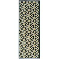 Ottomanson Authentic Collection Contemporary Geometric Trellis Design Kitchen Runner Rug, 27 x 72, Green