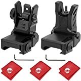 Circuit City UTG Dual Aiming Aperture Low Profile Flip-up Front + Rear Sight Kit (MNT-755 & MNT-955)