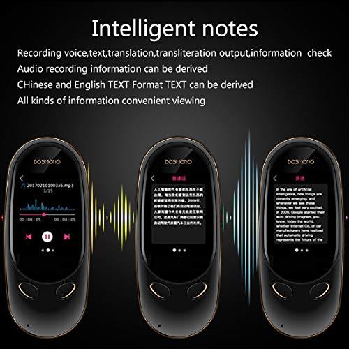 Smart Language Translator Device,72 Languages Online 8 Languages Offline AI Instant Digital Voices Translator Simultaneous Translation Recorder Intercom Device for Tourism Business Learning (Black) by Coholl (Image #7)