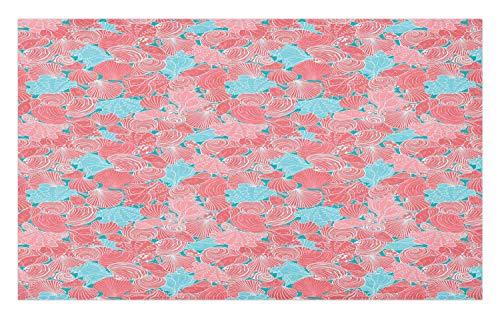 Lunarable Mollusk Doormat, Uninterrupted Clam Scallops Algae Moss Underwater Illustration Print, Decorative Polyester…