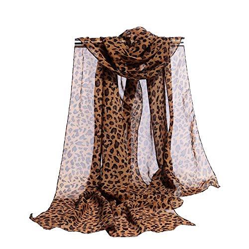 Long Medium Rectangle Sheer Chiffon Black Tan Brown Leopard Cheetah Animal Print Scarf Women's Scarves Hijab Shawl Pashmina Headband Bandana 19