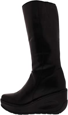 Ladies Fly London Yust Winter Snow Shoes Wedge Warm Knee High Boots All Sizes