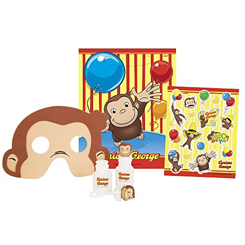 Curious George Party Favor Kit for 8 - Curious Favors Birthday George