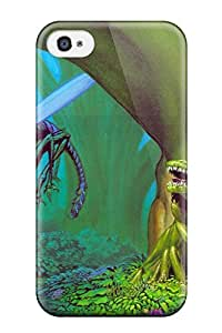 Iphone 4/4s Hard Back With Bumper Silicone Gel Tpu Case Cover Creature