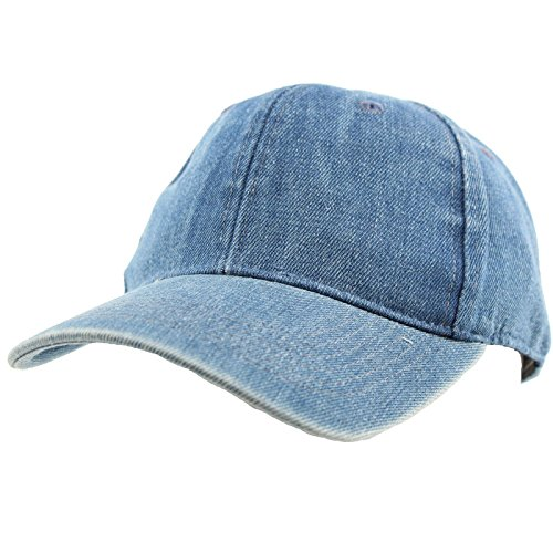 (Everyday Unisex Cotton Dad Hat Plain Blank Baseball Adjustable Ball Cap Denim )