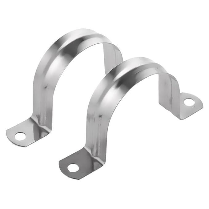 WOVELOT 2 abrazaderas de tubo en forma de U de acero ...