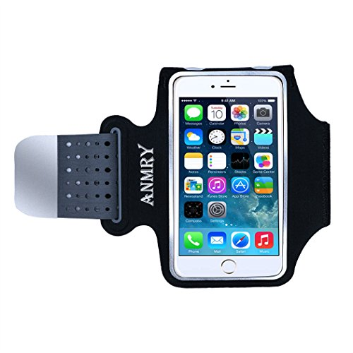 best sneakers d3f12 1676a ANMRY Running Armband Super Soft Thin Lightweight Sports Workout Armbands  for iPhone X 8 7 Plus [5.2-5.7 Inches Smartphones] Card Key Holder ...