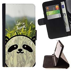 Dragon Case - FOR HTC One M7 - let's go travel - Caja de la carpeta del caso en folio de cuero del tirš®n de la cubierta protectora Shell