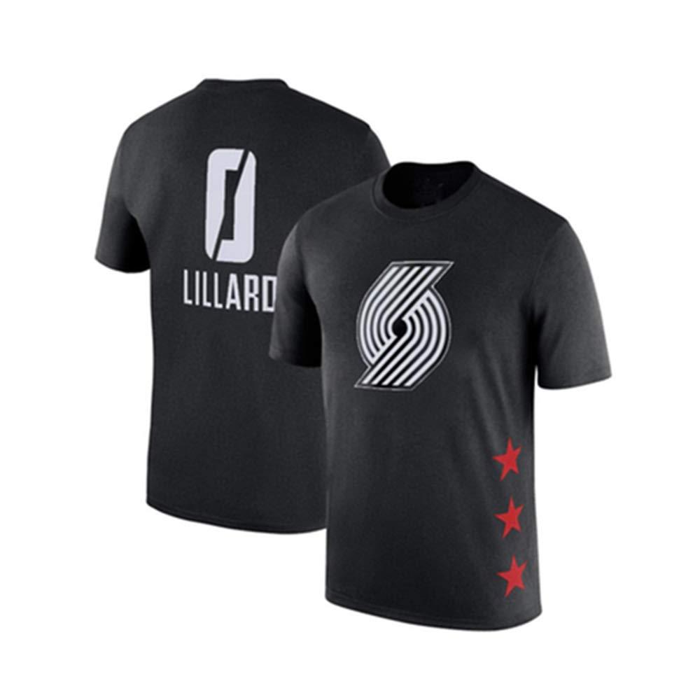noir1 X-petit WSX T-Shirt De Basketball NBA All-Star à Manches Courtes, Chemise étudiante, Haut Imprimé, Manches Moitié Supérieure Lakers,blanc5-M