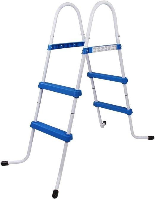 Blueborn PL84 - Escalera para Piscina, Escalera para Entrada a Piscina elevada, hasta 84 cm de Altura de Pared: Amazon.es: Jardín