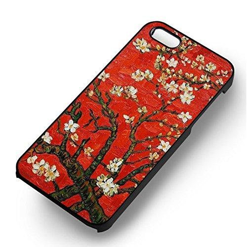 Almond Tree Blossom pour Coque Iphone 7 Case (Noir Boîtier en plastique dur) M6X4QO