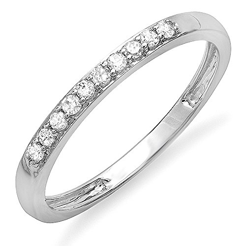 0 15 Carat ctw 10k Gold Round Diamond La s Anniversary Wedding