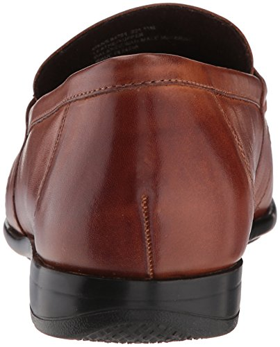 Nunn Bush Mens Denzel Moc Toe Kiltie Nappa Slip-on Loafer Cognac