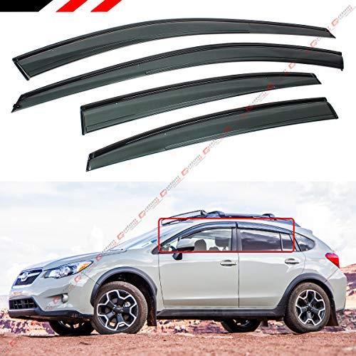Cuztom Tuning FITS for 2013-17 Subaru XV CROSSTREK / 2012-16 Subaru Impreza Sport Wagon Hatchback Clip ON Window Visor RAIN Guard Deflector