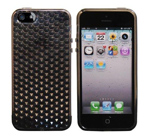 Coque en Silicone gel Diamant Cover Etui pour Apple iPhone 5 / 5G - Gris