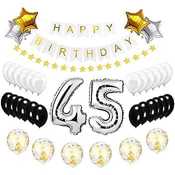 Best Happy To 45th Birthday Balloons Set