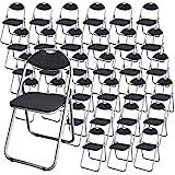 【まとめ買い】 KILAT 折りたたみパイプ椅子 ダークグレー 【32脚セット】 パイプイス 折りたたみイス 会議イス 会議チェア