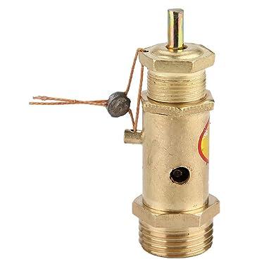 4 en laiton de soupape de d/écharge de s/écurit/é pour le palier de pression du g/én/érateur de vapeur de chaudi/ère Clapet anti-retour de compresseur dair composants de rechange du compresseur dair G1