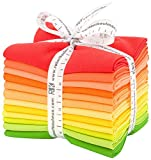 Robert Kaufman Kona Cotton Solids Citrus Fruit Fat Quarter Bundle