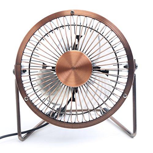 Mini Desk Fan : Honeyall adjustable usb desk fan metal archaistic