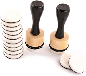 Autone Mini Ink Blending Tool Blender Set for Scrapbooking Craft, 2pcs Handles + 14pcs Ink Round Blending Replacement Foams