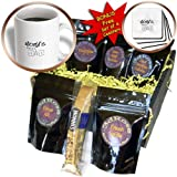 Patricia Sanders Creations - Worlds Best Dad in Gray Words Fathers Day - Coffee Gift Baskets - Coffee Gift Basket (cgb_29390_1)