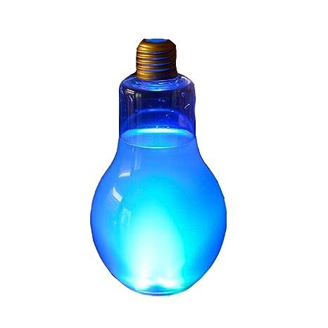 Botellas de jugo desechables forma de bombilla transparente con luz conjunto de 10