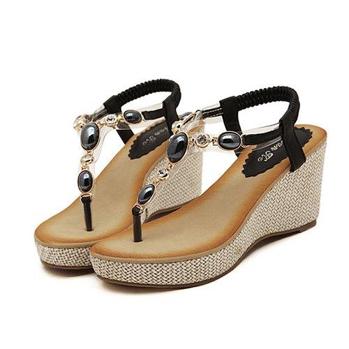 Chanclas Sandalias Alta Calzado Plataforma Mujer De Gladiator Zormey Casual Sandalia Verano 8 Cuñas Bt533 Bohemia Las 7 Mujeres Playa Sandalias De 2017 0OBnxaA6n