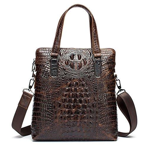Simple Funktionell Herren Leder Schultertasche Messenger Bag Tasche Umhängetasche für Reise Alltag Outdoor Sports lwmY2