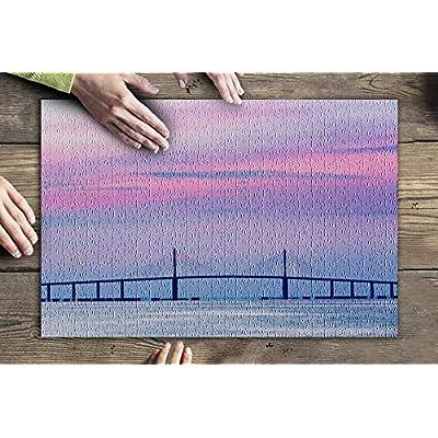 Terra Ceia, Florida - Sunshine Skyway Bridge at Dawn 9024362 (Premium 500 Piece Jigsaw Puzzle for Adults, 13x19, Made in USA!): Toys & Games
