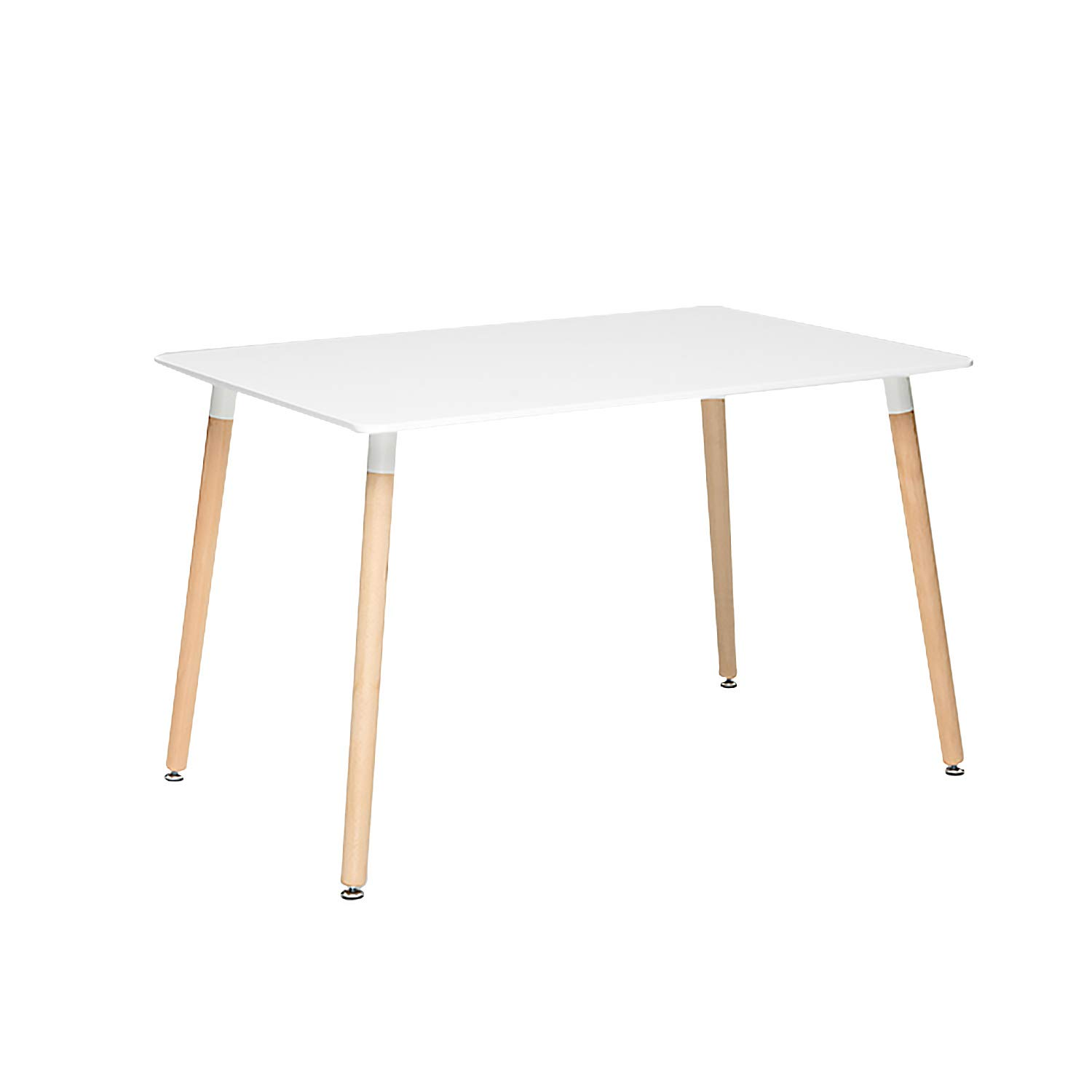 ME2 Kitchen Rectangular Table,Modern 47.2''x 31.5''Leisure Cofffee Table,Office Conference Desk with Wooden Legs and White Top for Kitchen Dining Room.White by ME2