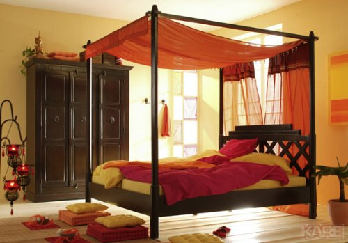orientalisches himmelbett. Black Bedroom Furniture Sets. Home Design Ideas