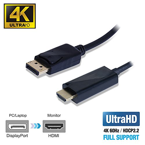 Uptab Displayport 1 4 To Hdmi 2 0b 6ft Active Cable 4k