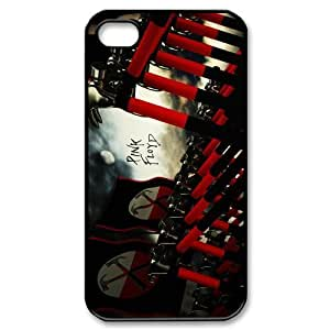 CTSLR Band Pink Floyd Protective Hard Case Cover Skin for Apple iPhone 4/4s- 1 Pack - Black/White - 6