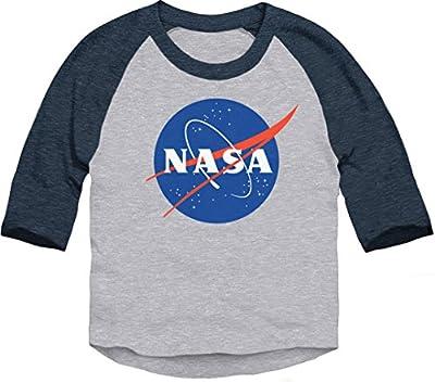 Trunk Candy Toddlers NASA Meatball Logo Dual Blend 3/4 Sleeve Raglan T-shirt