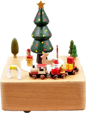 HGWDE Árbol de Navidad Tren Música Caja Artesanía Regalo Decoración Chica Caja Musical (Color : Picture Color, tamaño : 11X11X15CM): Amazon.es: Hogar