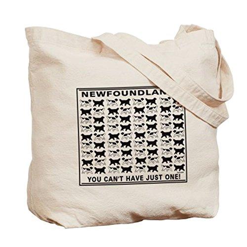 CafePress–Bianco e nero Terranova–Borsa di tela naturale, panno borsa per la spesa